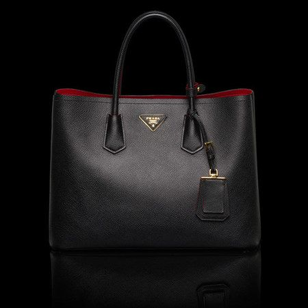 Prada Black Bag Red Interior