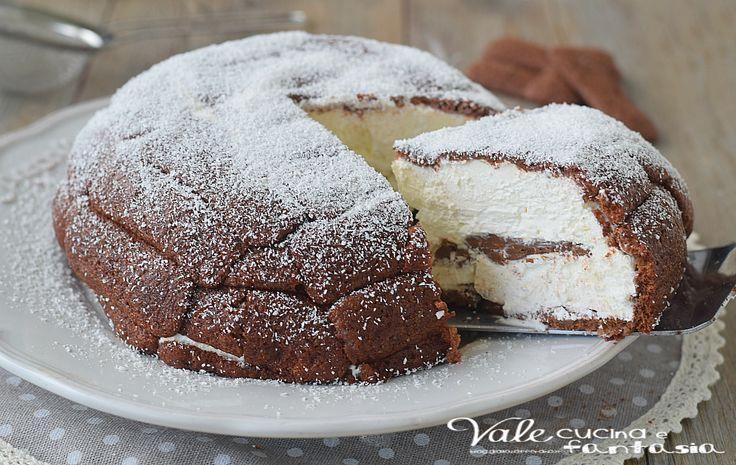 ZUCCOTTO COCCO E NUTELLA ricetta dolce velocissima e senza cottura, un dolce golosissimo, cocco e nutella connubio perfetto!