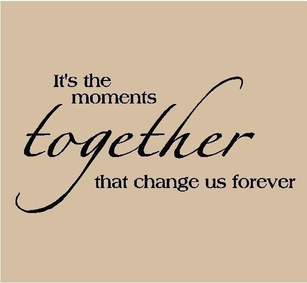 It's the Moments together that change us forever Vinyl Lettering Home Decor Wall Words 12.5x24 $9.99