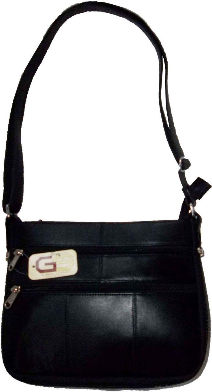 Ladies Leather Expandable Shoulder Bag Carryon Bag Leather Handbag Brand