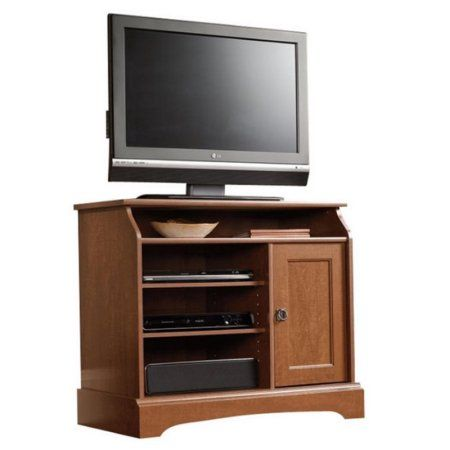 Sauder Graham Hill Tall TV Stand, for TVs up to 35 inch, Brown