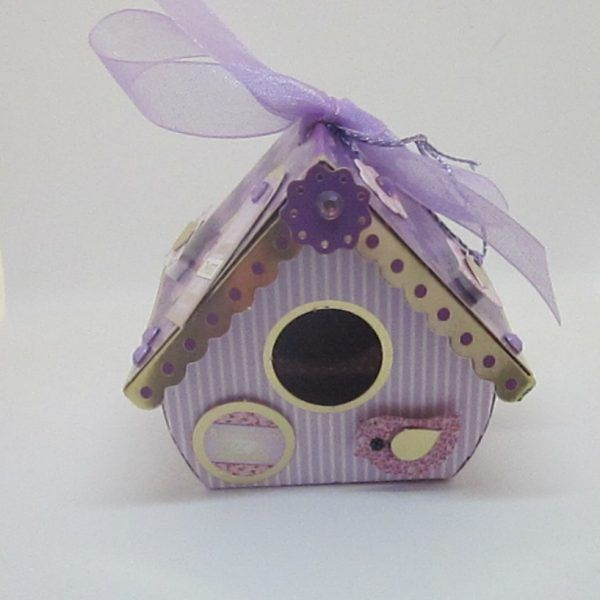 Bird House 10 Birthday wishes. Purple 7x7x6cms. The little bird house has a front opening, could have pot pourri put in it. Is essentially an extra gift for that special person. Has a hanger on the top. £3.50  Please follow and like us: