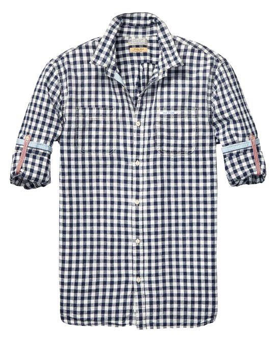 Shirt met oprolbare mouwen