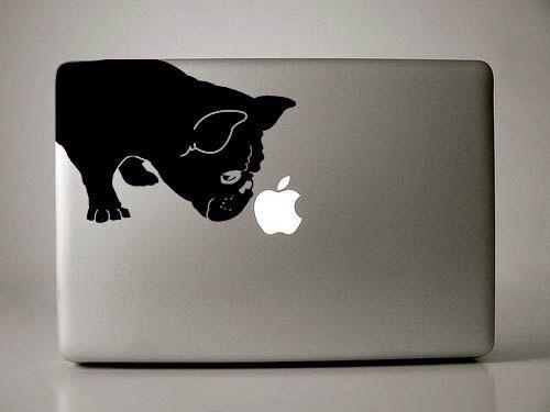 Etsy の フレンチ ブルドッグの手引きデカール Macbook アップル ノート パソコン by IvyBee