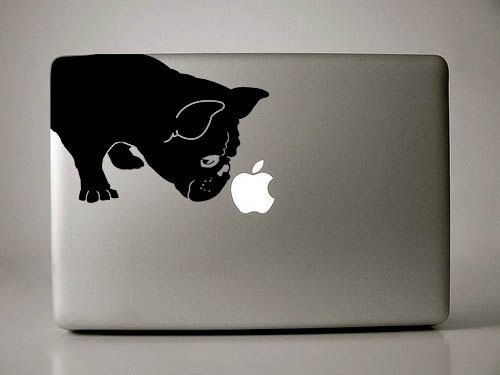 French Bulldog Sniffs Decal Macbook Apple Laptop by IvyBee on Etsy, $12.99