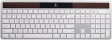 Logitech - K750 Wireless Solar Keyboard for Mac - White/Silver