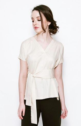 Odette Tied Blouse by kim.