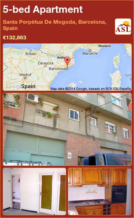 5-bed Apartment in Santa Perpètua De Mogoda, Barcelona, Spain ►€132,863 #PropertyForSaleInSpain