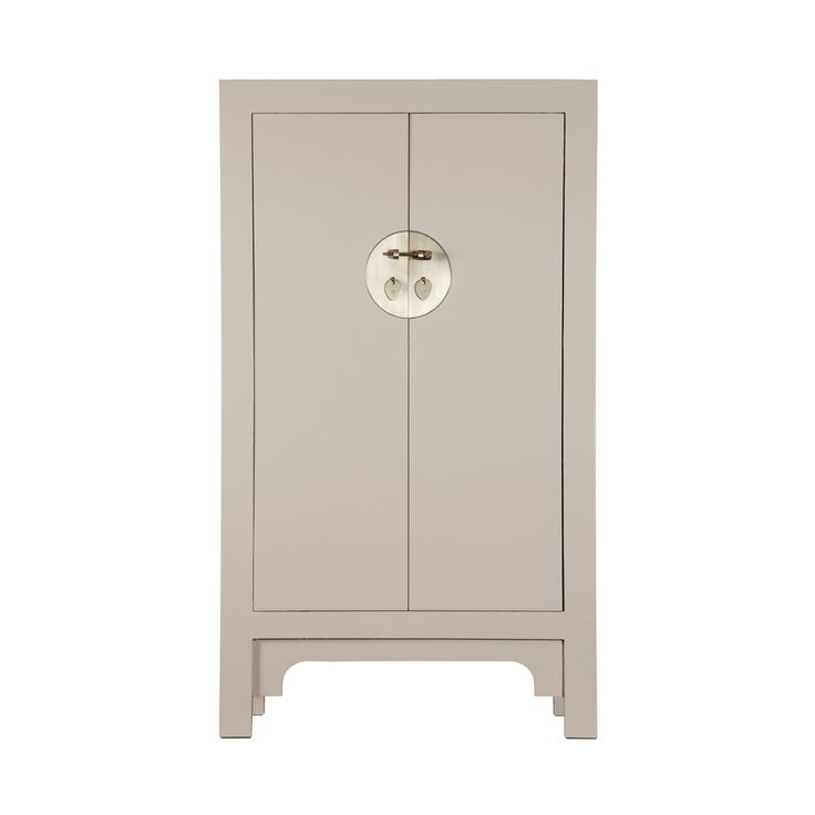 Medium Chinese Cabinet in Oyster Grey