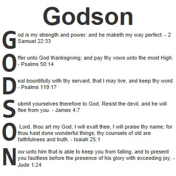 13 best for my godchildren images on pinterest fairy godmother blessing for a godson acrostic blessings for godson in the bible use our acrostic negle Images