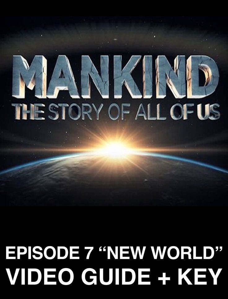 """Mankind Story of Us Episode 7, """"New World"""" Video Guides + Weblink is perfect for your 'Age of Exploration' unit. Video guide includes two versions, one for class, and a guide for absent students with the video link included in guide. Lastly a key is also included."""