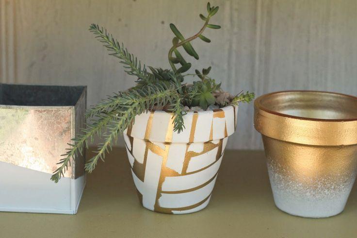 Hey Wanderer: diy: spray painted pots