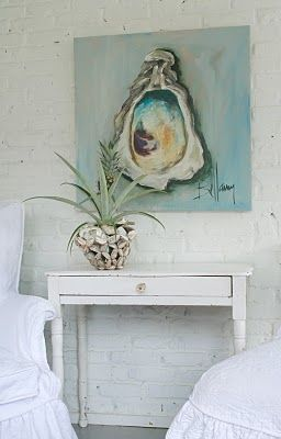 Oyster Art for your beach cottage #floridabeachproperties www.blackburninvestors.com