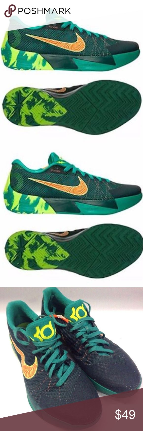 NIKE KD TREY 5 II KEVIN DURANT 653657-378 SHOES Nike KD Trey 5 II  Kevin Durant  ATHLETIC  SHOES MODEL #653657-378  MEN SIZE 11 US  USED CONDITION, PLENTY OF LIFE LEFT. MINOR DAMAGE ON THE TRIM PICTURED  SEE PICTURES FOR DETAILS Nike Shoes Sneakers