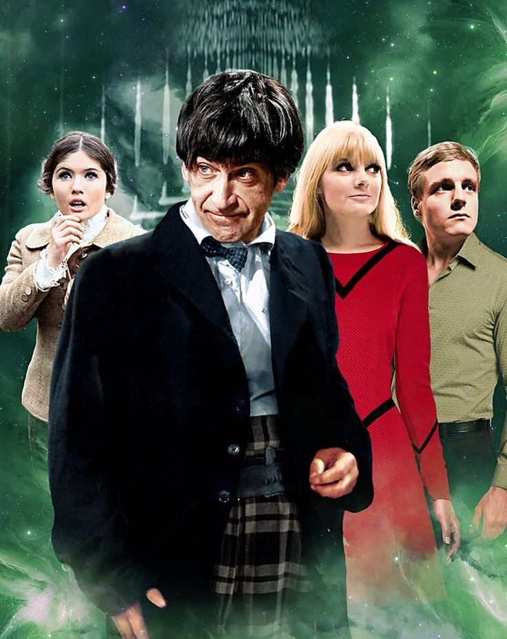 Doctor Who - The Second Doctor (Patrick Troughton) and his companions.