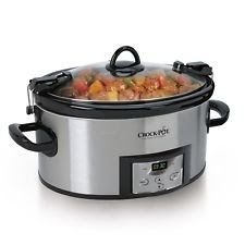 Crock-Pot 6-Quart Programmable Cook Carry Slow Cooker with Digital Timer Stai