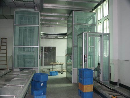 According to the production object is moving can be divided into moving assembly line equipment and overhead line equipment;http://www.zm-automation.com/incline-decline-belt-conveyor/