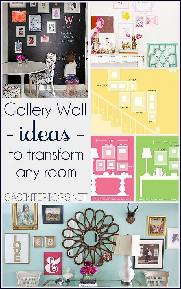 Sharing layouts, ideas, and inspiration for creating a gallery wall in your home. Over 30 different wall ideas to suit the needs / wants of your space! You won'…