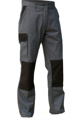 Pantalon de travail poche genoux TYPHON gris - noir
