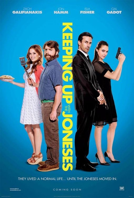 Directed by Greg Mottola.  With Zach Galifianakis, Isla Fisher, Jon Hamm, Gal Gadot. A suburban couple becomes embroiled in an international espionage plot when they discover that their seemingly perfect new neighbors are government spies.