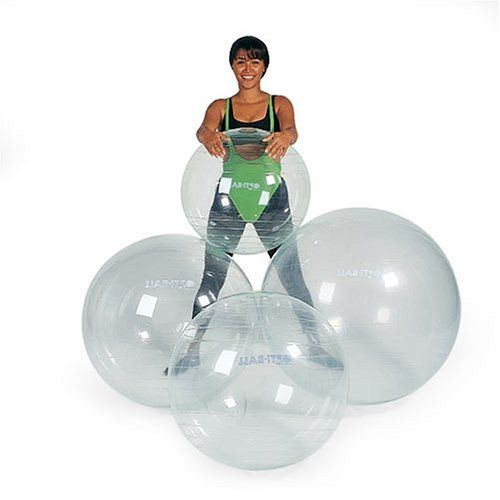New Opti Swiss Fitness Exercise Ball TRANSPARENT 75cm *** More info could be found at the image url.
