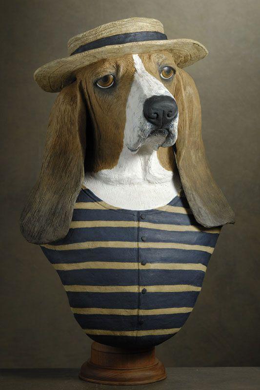 basset-hound baigneur
