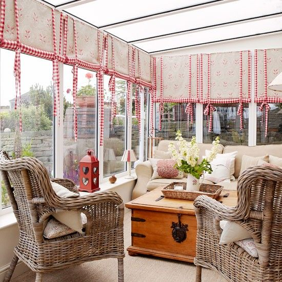 Don't totally love this but shows how red warms up conservatory
