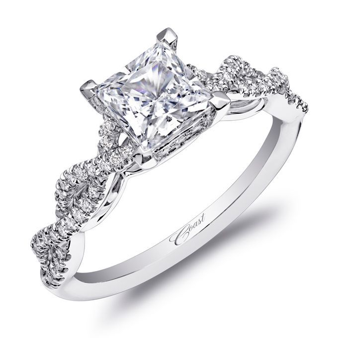 Cute A strikingly beautiful design from the Charisma Collection this engagement ring features a braided design