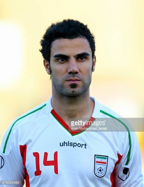 Mehrdad Jamaati of Iran during the AFC Asian Cup Qualifier between Iran and Kuwait on March 3 2014 in Tehran Iran