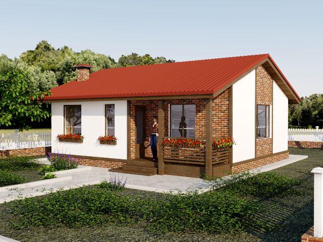 Дом из СИП панелей 25000 евро