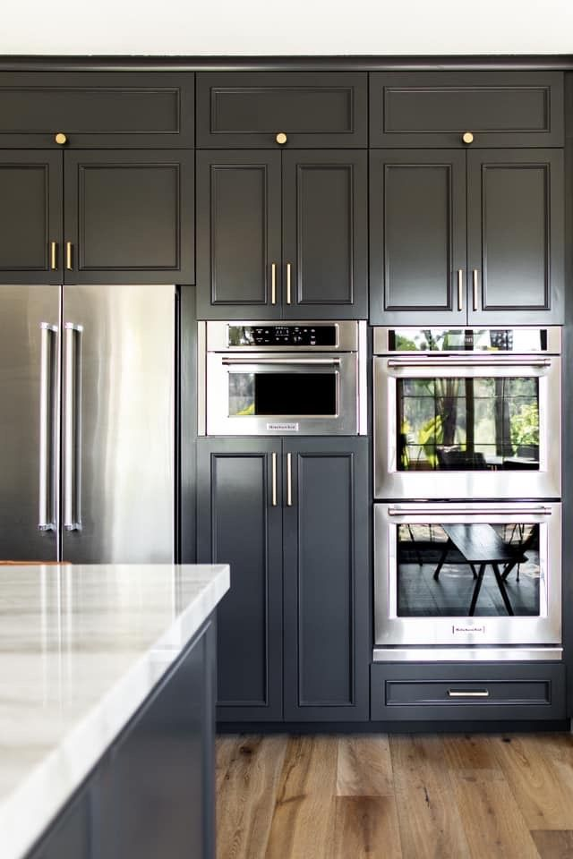 Saved Because I Was Trying To See What A Line Up Of Appliances Ovens And Pantry Might Lo In 2020 Kitchen Renovation Painted Kitchen Cabinets Colors Home Decor Kitchen