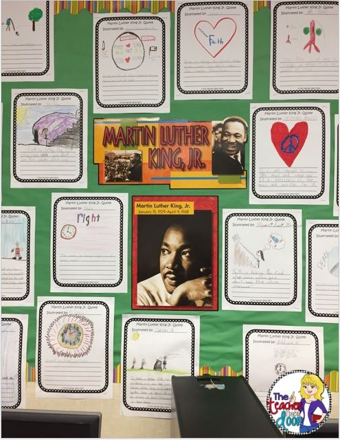 Freebie: MLK Quotes to Illustrate Activity. Also included in my complete Martin Luther King, Jr. Literacy Set.