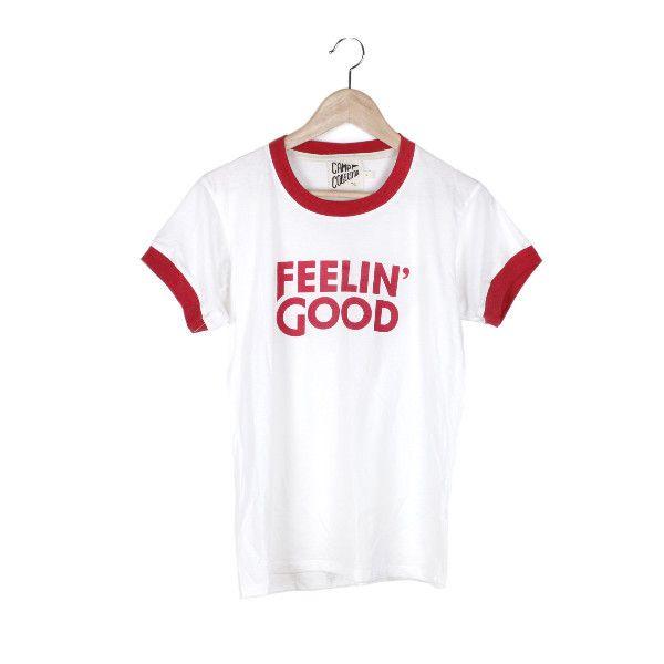 Feelin' Good Ringer Tee – CAMP Collection