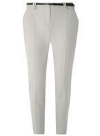 Womens Grey Belted Slim Leg Trousers- Grey