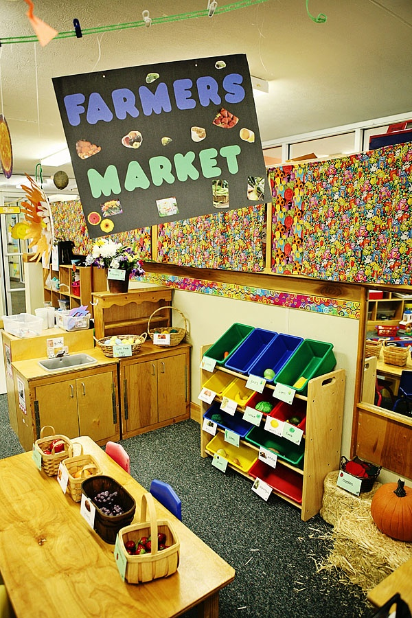 Farmer Market Project Inspiration I D Rather See It Outside And Using Less Plastic But This Is A Great Idea Dramatic Play Themes
