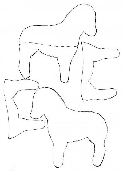 free felt patterns (this is a horse) and how to make your own