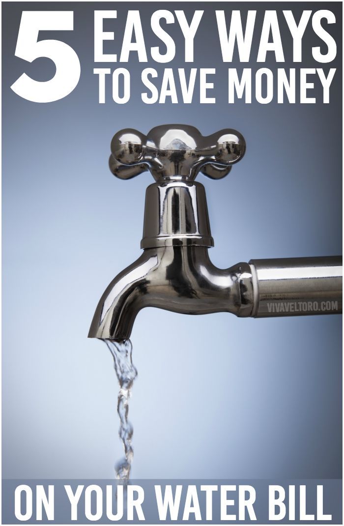 5 easy ways to save money on your water bill