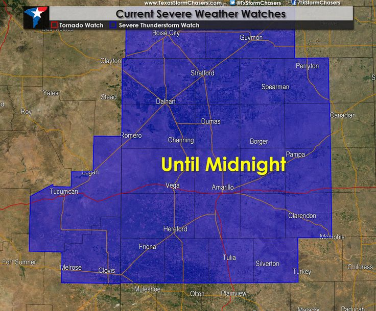 A severe thunderstorm watch has been issued for the Texas Panhandle. The watch goes until midnight and means conditions are favorable for the development of severe thunderstorms. We will see an uptick in storms over the next few hours as they move southeast. Read the whole article at http://texasstormchasers.com/?p=38736 - David Reimer