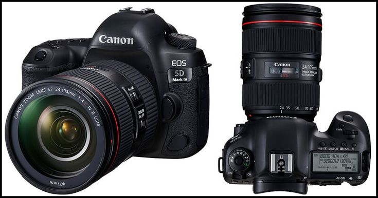 Canon EOS 5D Mark IV: Canon has manufactured the 5D range models with full pack advanced features and technology. Canon has rolled out many professional as well as entry-level camera models. DSLR's are really popular these days.