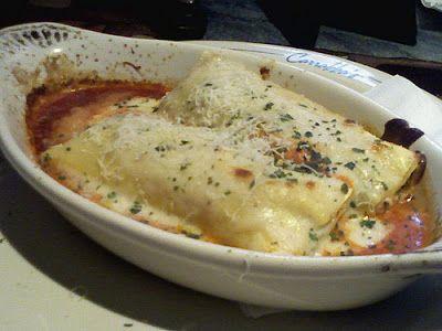 Carrabba's Italian Grill Copycat Recipes: Chicken and Spinach Cannelloni