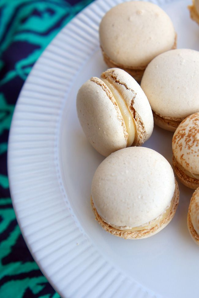Mexican Spice Macarons with Dulce de Leche, italian meringue method
