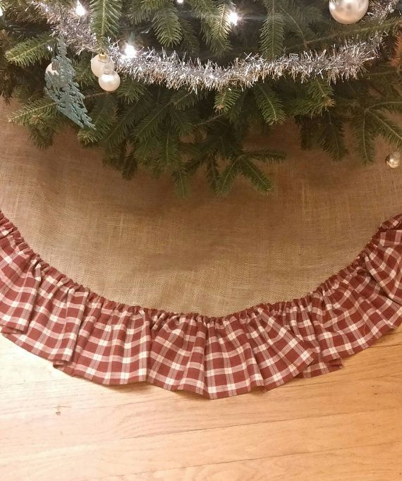 Burlap and plaid rustic country Christmas by CourtandSparkDesigns