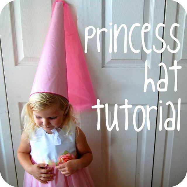 princess hat tutorial---I'm not waiting for a birthday for this one....just gonna do it one rainy day.