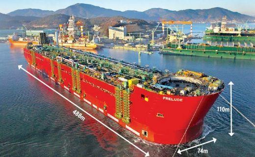 Samsung Heavy Industry Prelude Flng Floating Liquid