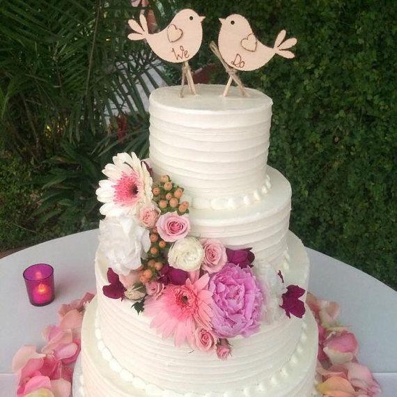 We+Do+Rustic+Wedding+Cake+Topper+Bird+Cake+Topper+by+Melysweddings