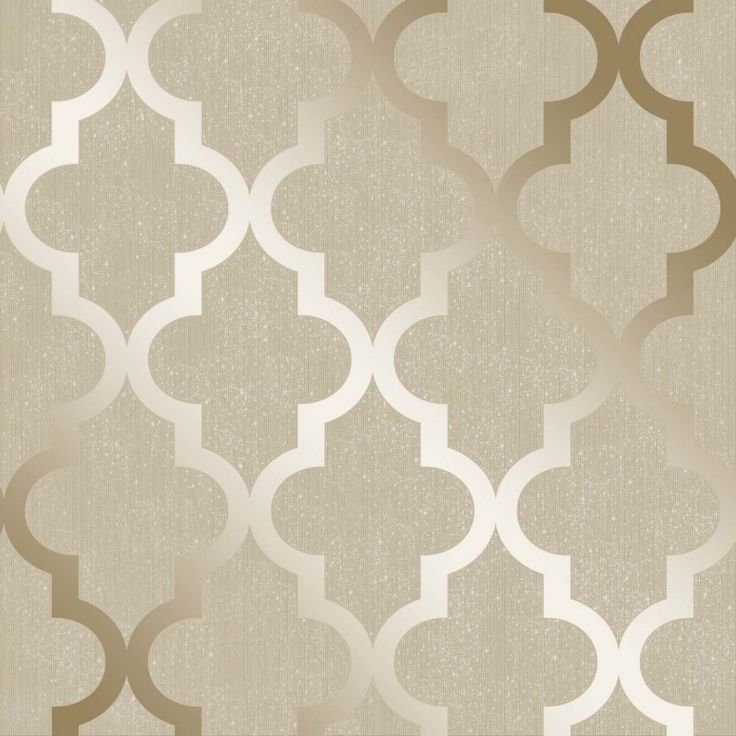 Henderson Interiors Camden Trellis Wallpaper Cream Gold / Silver - H980531