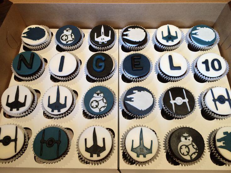 Star Wars ships cupcakes