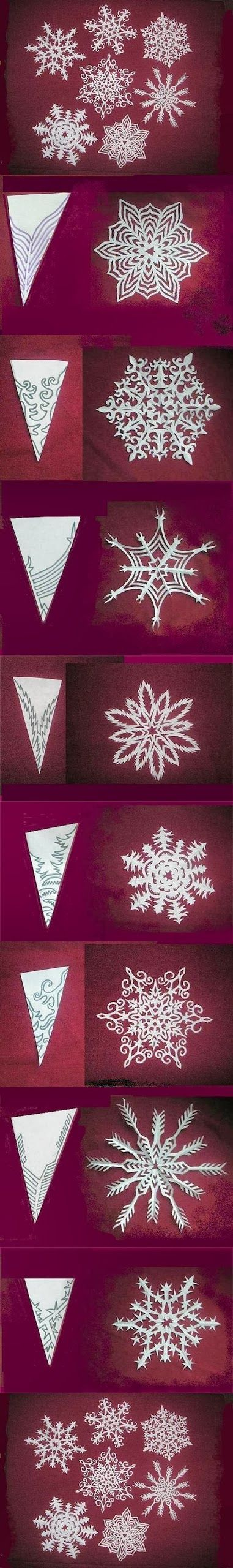 DIY : Snowflakes Paper Pattern Tutorial | DIY & Crafts Tutorials