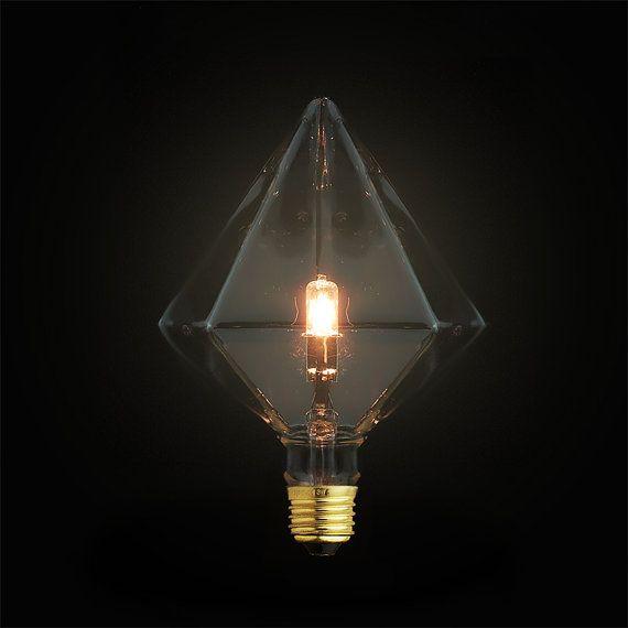Diamond Light Bulb  E27 diamond bulb  diy lamp by LightwithShade