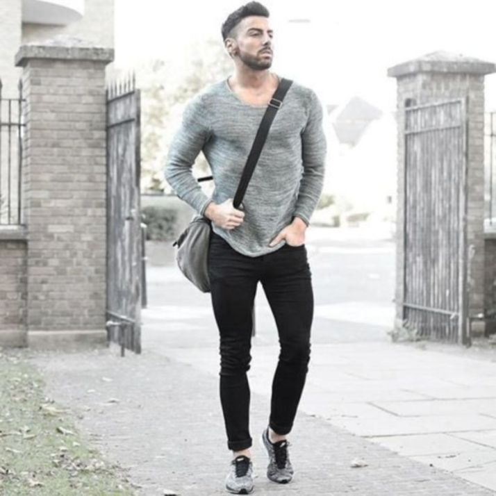 Black jeans outfit, Mens outfits